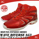 【あす楽】【送料無料】 MIZUNO ミズノ フィットネスシューズ WAVE DIVERSE LG3 ウエーブダイバース LG3 K1GF1671