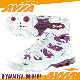 阿維亞-V6000 < 女士 > WPP 白色和紫色健身鞋健身鞋阿維亞