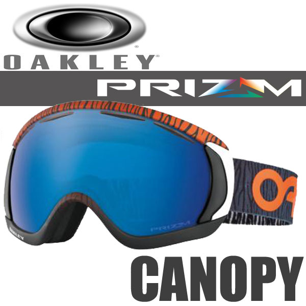 OAKLEY SNOW GOGGLE PRIZM CANOPY OO7047-15 (オークリー スノーゴーグル キャノピー プリズム サファイア イリジウム / ファクトリーパイロット ベンガル オレンジ アジアンフィット / ジャパンフィット )