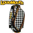 ラウドマウス ゴルフ 9インチ キャディバッグ LM-CB0002 (002 オークモント) / 【LOUDMOUTH GOLF 9 inch CADDIE CART BAG / 002 OAKMONT HOUNDTOOTH】