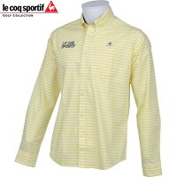 le coq sportif GOLF ゴルフ メンズ 長袖 ボタンダウン シャツ QG1067 カラー:L798 オリーブイエロー 17fwczの画像