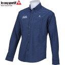 le coq sportif GOLF ゴルフ メンズ 長袖 ボタンダウン シャツ QG1067 カラー:M546 ブルーパープル 17fwpz