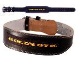 GOLDS GYM ゴールドジム ブラックレザーベルト G3367 ウエイトトレーニングベルト