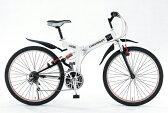 CHEVROLET シボレー WサスFD-MTB26-18S 26インチ折畳自転車 73133 ホワイト