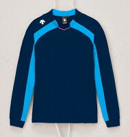DESCENTE デサント バレーボール ゲームシャツ長袖 DSS-4116W レディース ネイビー/Pブルーの画像