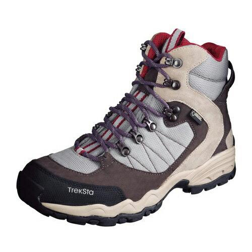 TrekSta トレクスタ FP-0504 HI GTXライト EBK167 トレッキングシューズ 登山靴 レディース グレー/レッド