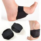 ヘルスポイント 足裏アーチサポートパッド サポーター 両足分一組 ブラック