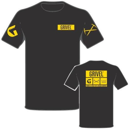 グリベル 登山クライミング ロゴTシャツ 半袖 ブラック
