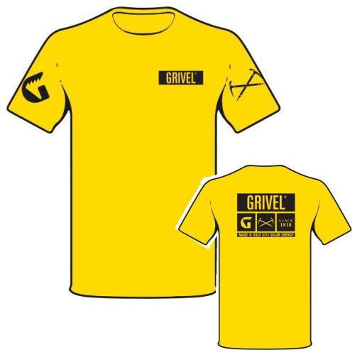 グリベル 登山クライミング ロゴTシャツ 半袖 イエロー