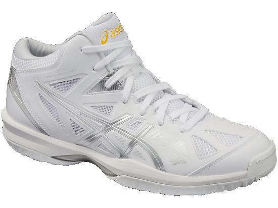 アシックス バスケットボールシューズ ゲルフープV8-SLIM TBF332-0193 ホワイト/シルバー(沖縄・離島は送料¥1000)