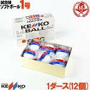 【sale-bl】ナガセケンコー ソフトボール ボール 1号 ゴムボール 小学生 試合球 1ダース kenko-1-d