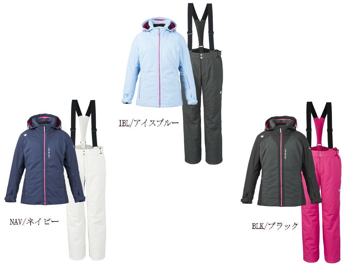 送料無料DESCENTEデサントスキーウェア上下女性用スキースーツ上下セットレディーススキーウェア上