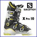 【あす楽対応可】◎2015サロモン スキーブーツ X PRO 110 ホワイト/ブラック スキー靴【即納OK】 SALOMON エックスプロ L35469200...