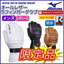 【あす楽対応可】◎ミズノ スキーグラブ オールレザー 5フィ...