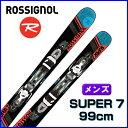 【あす楽対応可】◎2017ロシニョール ROSSIGNOL MINI SUPER7 スキーボード FUN SKI 板+純正ビンディング 99cm メンズ【即納O...