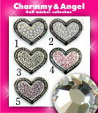 今ならお得!!1,260円charmmy & Angel【 ゴルフマーカー】スワロフスキー黒ハートc-a-bk-h【 即納OK 】