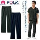 小松マテーレコラボ パンツ FOLK メンズ スクラブ用 白衣 超軽量素材 日本製 おしゃれ カジュアル fo-5025sc
