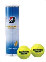 BridgeStone(ブリヂストン)テニスボールTOURPROツアープロ(4個入り)×1缶 BBATP4の画像