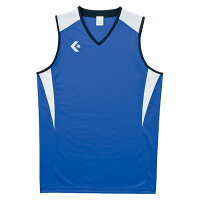 CONVERSE(コンバース)バスケットゲームシャツ・パンツゲームシャツCB251701Rブルー/ホワイトの画像
