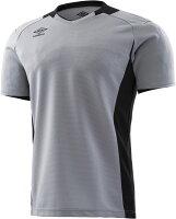UMBRO(アンブロ)サッカーゲームシャツ・パンツJr.ゴールキーパーシャツ ショートスリーブ ジュニア サッカー・フットサル用キーパーウェアUAS6708GJシルバーの画像