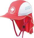 AQA(アクア)マリン水中帽子UV DRY フラップキャップ キッズKW4468AチェリーPK/WT
