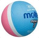 モルテン(Molten)ハンドドッチボールライトドッジボール軽量 1 号球 サックス×ピンクSLD1PSK