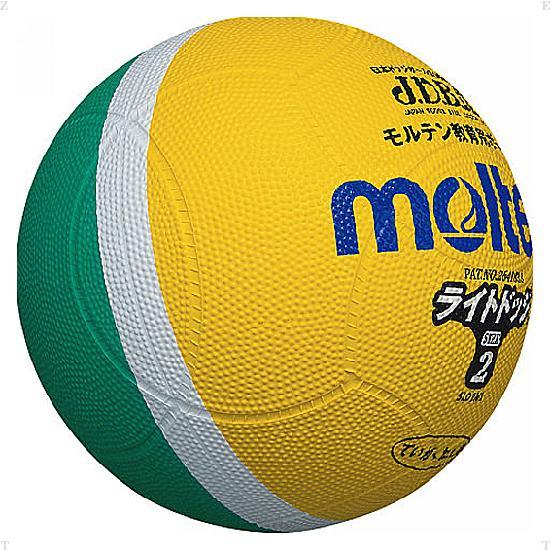 モルテン(Molten)ハンドドッチボールライトドッジボール軽量2号 黄×緑SLD2ML