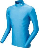 PUMA(プーマ)サッカーゲームシャツ・パンツCOMPRESSION モックネック LSシャツ92048008SAXE-WHITEの画像
