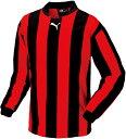 PUMA(プーマ)サッカーゲームシャツ・パンツストライプナガソデゲームシャツ90329604BLACK-RED