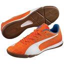 PUMA (プーマ) サッカー フットサル インドア エヴォスピード サラ 3.4 メンズ オレンジ クラウン フィッシュ/ホワイト/エレクトリック ブルー レモネード 10323805
