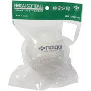 NAIGAI (ナイガイ) 野球 ソフトボール球 NAIGAI SOFT 2CORK 1P ジュニア WHT S2C1H