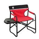 ● コールマン(COLEMAN) サイドテーブル付デッキチェアST(レッド) キャンプ用品 ファミリーチェア 椅子 レッド 2000017005