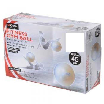 s.a.gear (エスエーギア) フィットネス 健康 バルーン ジムボール 45CM 45 ホワイト SA-Y15-203-050