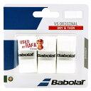 Babolat (バボラ) テニス バドミントン グリップテープ VSグリップ×3 WH ホワイト BA653040