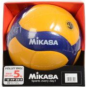 【送料無料】 MIKASA (ミカサ) バレーボール 5号ボール バレー5号 国際公認球 高校試合球 黄/青 5 V300W