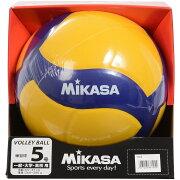 MIKASA (ミカサ) バレーボール 5号ボール バレー5号 練習球 黄/青 5 V330W