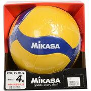 MIKASA (ミカサ) バレーボール 4号ボール バレー4号 レクリエーション 縫い 黄/青 4 V455W