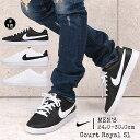 ナイキ スニーカー メンズ 白 黒 おしゃれ ローカット nike コートロイヤル SL 844802 カジュアル シューズ 靴
