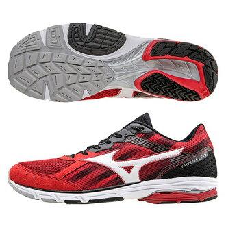 波 6 寬紅色白色 x 黑色田徑鞋和跑鞋的護身符。