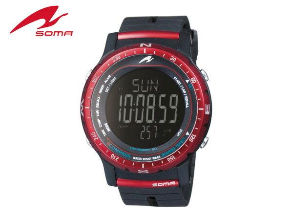 【送料無料】ソーマ:RIDEONE COMPASS RED【SOMA 腕時計 スポーツ 自転車 ウォッチ】【_土曜営業】【_日曜営業】【父の日】