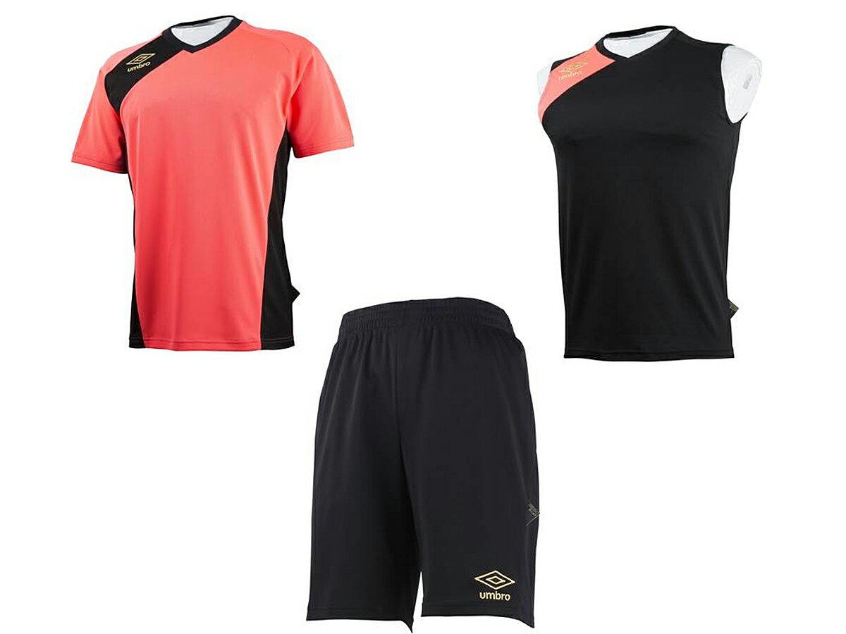 アンブロ:メンズGACH1プラクティスキット(3点セット)UMBROサッカーTシャツノースリーブハー