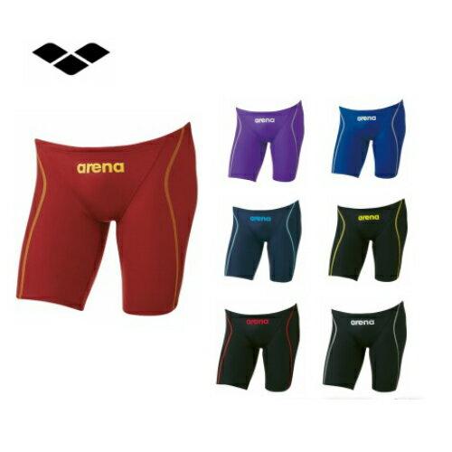 アリーナエックスパイソン2ハーフスパッツARN7022M競技用水着メンズ男性用水泳ひざ上競泳選手部活