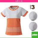 【テニス・バドミントン ウェア(レディース) プリンス】ゲームシャツ/レディース(WL6096)