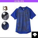 【バレーボール ウェア(メンズ/ユニ) デサント】半袖プラクティスシャツ/ユニセックス(DVB-5725)