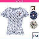 【テニス・バドミントン ウェア(レディース) フィラ】ゲームシャツ/レディース(VL1695)