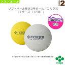 【ソフトボール ボール ナイガイ】 ソフトボール検定2号ボール/コルク芯『1ダース(12球)』