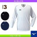[ミズノ バレーボールウェア(メンズ/ユニ)]プラクティスシャツ(長袖)/ユニセックス(59SP121)