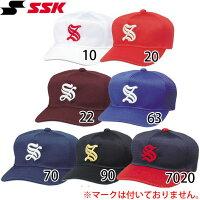 ベースボールキャップ SSK/エスエスケイ 野球 少年 帽子 角ツバ 6方型 オールメッシュ BC063Jの画像