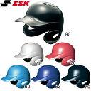 【SSK/エスエスケイ】 少年軟式打者用 両耳付きヘルメット H1500J