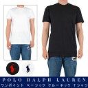 POLO RALPH LAUREN ポロラルフローレン / PLAIN CREW NECK TEE WHT、BLK、NAV プレーン クルーネック Tシャツ ホワイト、ブラック、ネイビー 定番 ラルフ ストリートファッション メンズ シンプル ワンポイント 無地 大きいサイズ ビッグサイズ (tee001)
